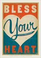 Bless Your Heart Vinyl Magnet