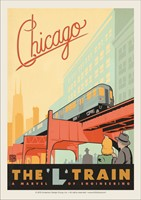 Chicago L-Train Vinyl Magnet