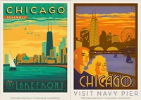 Chicago Lakefront & Navy Pier Vinyl Magnet Set