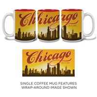 Chicago Sunset Skyline Mug