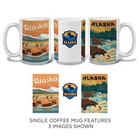 Alaska Caribou, Bear & Patch Mug