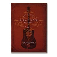Branson Red Guitar Metal Magnet