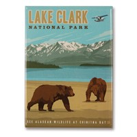 Lake Clark Metal Magnet