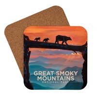 Great Smoky Bear Crossing Coaster