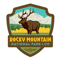 Rocky Mountain Elk Emblem Sticker