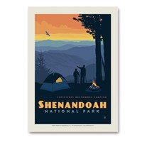 Shenandoah Back Country Camping Vertical Sticker