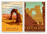 Arches & Canyonlands  Vinyl Magnet Set