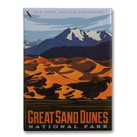 Great Sand Dunes Metal Magnet