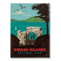 Virgin Islands Metal Magnet