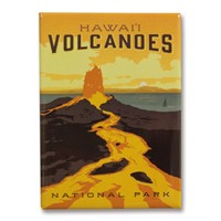 Hawai'i Volcanoes Metal Magnet