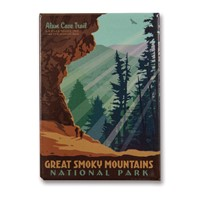 Great Smoky Alum Cave Metal Magnet