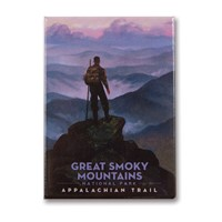 Great Smoky Appalachian Trails Metal Magnet
