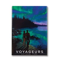 Voyageurs Northern Lights Metal Magnet