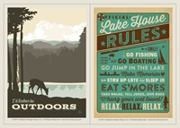 I'd Rather Be Outdoors Vinyl Magnet Set