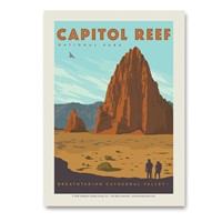 Capitol Reef Cathedral Valley Vertical Sticker