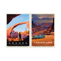Arches Arch of Triumph & Canyonlands Wonderland Vinyl Magnet Set