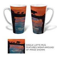 Yellowstone Bear Crossing Latte Mug