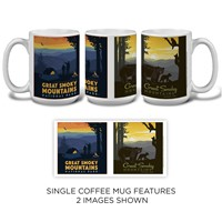 Great Smoky Back Country Camping & Great Smoky Mama Bear and Cubs Mug