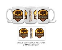 Yellowstone Bison Emblem Mug