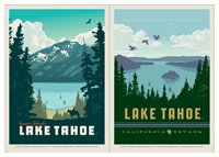 Lake Tahoe & Lake Tahoe Summer Splendor Vinyl Magnet Set