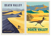 Death Valley Sand Dunes & Roadrunner Vinyl Magnet Set