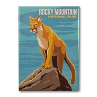 Rocky Mountain Cougar Magnet