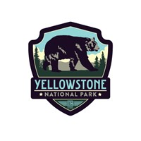 Yellowstone Bear Emblem Magnet