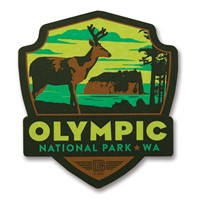 Olympic NP Wooden Emblem Magnet