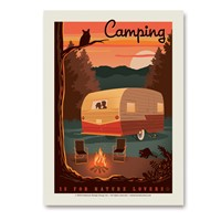 Camping is For Nature Lovers Vert Sticker