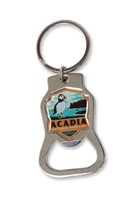Acadia NP Emblem Bottle Opener Key Ring