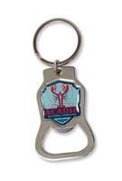 Acadia Lobster Emblem Bottle Opener Key Ring