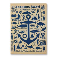 Anchor Pattern Print Magnet