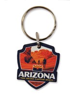 AZ Emblem Wooden Key Ring