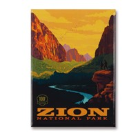 Zion 100th Anniversary Vertical Magnet