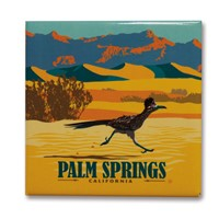 Palm Springs Roadrunner Square Magnet