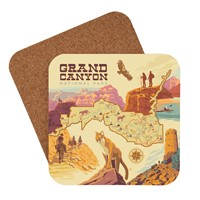 Grand Canyon Illustrated Map Coaster