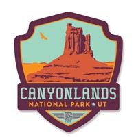 Canyonlands Emblem Wooden Magnet
