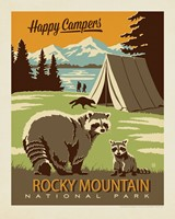 "CO061PT - RMNP Happy Campers 8"" x 10"" Print"
