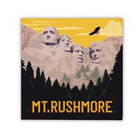 Mt. Rushmore Square Magnet