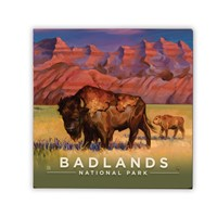 Badlands Living the Good Life Square Magnet