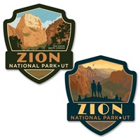 Zion Angels Landing/Great White Car Coaster PK of 2
