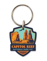 Capitol Reef Emblem Wooden Key Ring