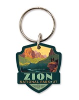 Zion 100th Emblem Wooden Key Ring