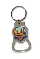Capitol Reef Emblem Bottle Opener Key Ring