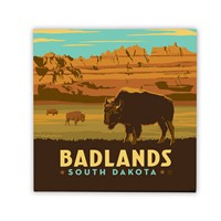 Badlands, SD Square Magnet
