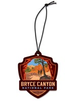 Bryce Canyon Peekaboo Trail Emblem Wooden Ornament
