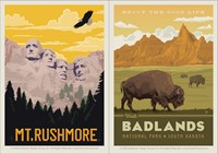 Mt. Rushmore/Badlands Enjoy Dbl Magnet
