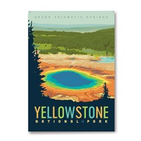 WY040MM - Yellowstone NP Grand Prismatic Springs Magnet