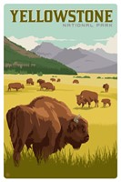 WY023MP - Yellowstone NP Bison Herd Magnetic PC