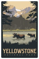 WY027MP - Yellowstone Moose Lake Magnetic PC